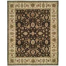 Royal Zeigler Ivory/Black Rug