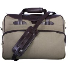 Casual Briefcase in Olive / Brown