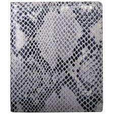 Italian Leather Snake Print Large Bi-Fold Wallet