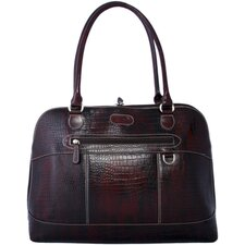 Brush off-Croc Laptop Case in Dark Burgundy