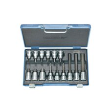 <strong>Gedore</strong> Screwdriver Bit Socket in Hex (Set of 15)