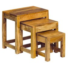 Madisson Mango Light 3 Piece Nest of Tables
