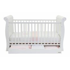 Hollie Cot and Drawer Set in White