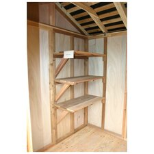 "<strong>Outdoor Living Today</strong> Shed Shelf Option for 72"" Shed (Set of 3)"