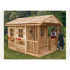 <strong>Outdoor Living Today</strong> Sunflower Playhouse with 3 Functional Window and Cedar Deck Porch