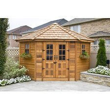 9ft. W x 9ft. D Wood Garden Shed