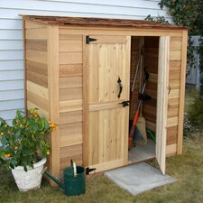 "Garden Chalet 6'6"" W x 3'2"" D Wood Lean-To Shed"