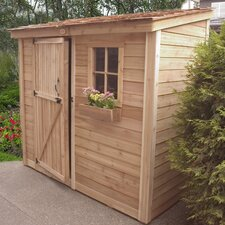 SpaceSaver Wood Lean-To Shed