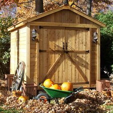 SpaceMaker 8' W x 12' D Wood Storage Shed