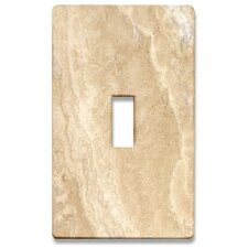 Beige Marble Decorative Light Switch Cover - Single Toogle Switch