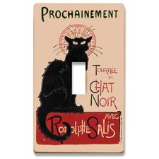Chat Noir Decorative Light Switch Cover - Single Toogle Switch