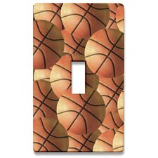 Group of Basketballs Decorative Light Switch Cover - Single Toogle Switch