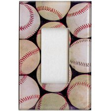 Artitude Baseballs Decorative Light Switch Cover - Single Rocker Switch