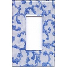 Artitude BlueandWhite Damask Decorative Light Switch Cover - Single Rocker Switch