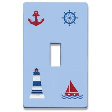 Nautical Decorative Light Switchplate Cover - Single Toggle Switch