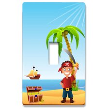 Pirate Boy Decorative Light Switchplate Cover - Single Toggle Switch