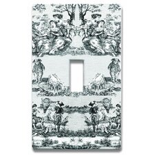 French Toile Light Switchplate Cover - Single Toggle Switch
