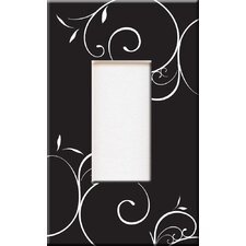 Artitude Black & White Swirls Decorative Light Switch Cover - Single Rocker Switch