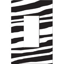 Artitude Zebra Decorative Light Switch Cover - Single Rocker Switch