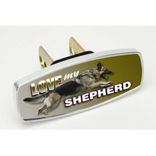 HitchMate Love My Shepherd Premier Series Hitch Cap