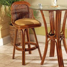 Moroccan Bar Stool with Cushion