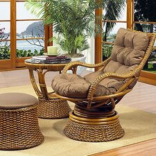<strong>Boca Rattan</strong> Biscayne Leather Chair