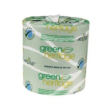 Green Heritage Toilet Tissue, 2-Ply, 500/Roll