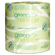 Green Heritage 2-Ply Toilet Paper - 500 Sheets per Roll / 96 Rolls per Carton