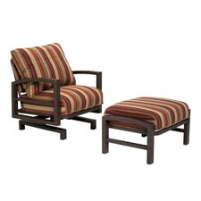 <strong>Tropitone</strong> Lakeside Action Lounge Chair and Ottoman with Cushion