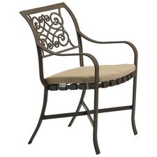<strong>Tropitone</strong> Palladian Verona Dining Arm Chair with Cushion