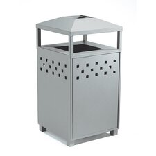 Boulevard Waste Receptacle with Ash Urn
