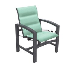<strong>Tropitone</strong> Lakeside Padded Sling Dining Arm Chair