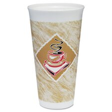 Café G Design 20 oz. Foam Hot/Cold Cups with Accents (Carton of 500)