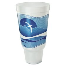 Horizon Flush Fill 44 oz. Foam Hot/Cold Cup (Bag of 15)