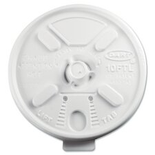 Lift n' Lock Plastic Hot Cup Lids Fits 10 oz. Cups (Carton of 1,000)