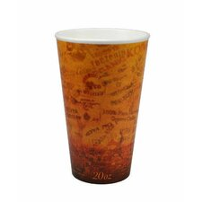 20 Oz Foam Hot / Cold Cups in Brown / Black
