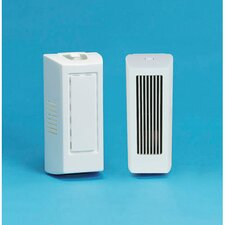 "8.75"" x 4"" x 3.18"" Gel Air Freshener Dispenser Cabinets wih Fan in White"