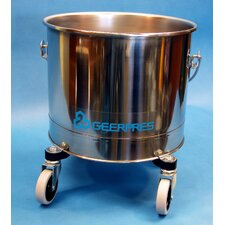 "Stainless Steel 5 Gallon Round Mop Bucket with 2"" Casters"