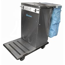 Escort Rx Stainless Steel Housekeeping Cart with Non Folding Tray