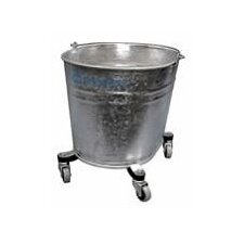 "Seaway Galvanized 35 Quart Oval Mop Bucket with 2"" Casters"