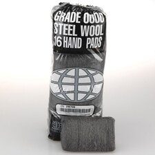 Industrial Quality Steel Wool Hand Pad, Fine - 16/Pack