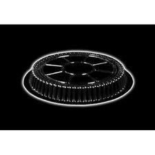 "Plastic Dome Round Lid 500/Case in Clear Fits 9"" Round Pan"