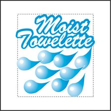 (1000 per Carton) Fresh Nap Moist Towelettes in White/Lemon