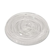 Compostable Cold Cup Flat Lids (100 Pack)