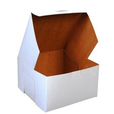 "4"" x 7"" Tuck-Top Bakery Boxes in White"