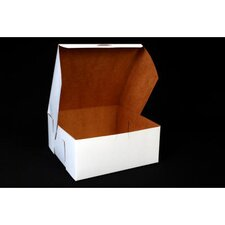 "4"" x 9"" Tuck-Top Bakery Boxes in White"