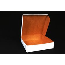 "2.5"" x 10"" Tuck-Top Bakery Boxes in White (Set of 250)"