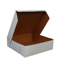 "3"" x 10"" Tuck-Top Bakery Boxes in White"