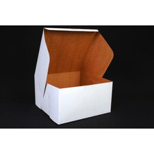 "5.5"" x 10"" Tuck-Top Bakery Boxes in White"