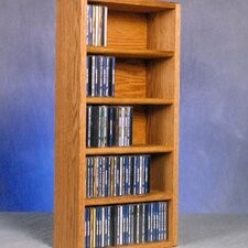 <strong>Wood Shed</strong> 500 Series 130 CD Wall Mounted Multimedia Storage Rack